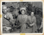 Dickinson and Tennessee State Guard comrades enjoy meal at Clarksville Armory
