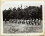 Line of Tennessee State Guard soldiers with rifles in formation at Warner Park Recruiting Drive