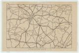 Second Infantry Brigade, Tennessee State Guard map of Middle Tennessee