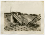 Bridge blown out by Germans