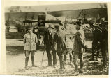 Clemenceau visiting French aviation camp near front