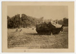 French tank leading an attack along Marne