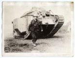 Member of Thirtieth Division with supply tank