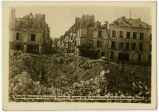End of bridge at Chateau-Thierry blown up by Americans during German drive