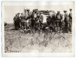 Wounded and attendants at a first-aid dressing station