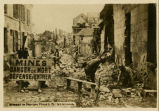 Street in Noyon mined by Germans
