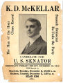 Poster to hear U.S. Senate Candidate K. D. McKellar speak