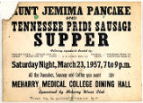 Aunt Jemima Pancake and Sausage Supper