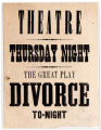 The Great Play, Divorce