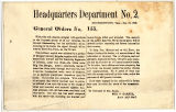 Headquarters Department No. 2, General Orders No. 155