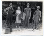 A party of huckleberry pickers