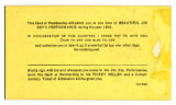 Jim Key Band of Mercy membership card