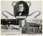 Andrew Johnson montage, with insert showing his tailor shop in Greeneville and tailoring tools