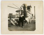 "Man sitting on Texas deck of ""City of Memphis"""