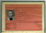 Hardy A. Mitchener POW Identification Card
