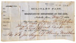 James McCutchen Military Pass, May 17, 1862