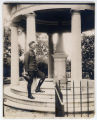Alvin York on the steps of Jackson's tomb