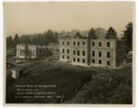 Early view of the construction site for the Tennessee School for the Deaf showing two partially...