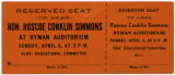 Ticket to the Hon. Roscoe Conklin Simmons speech