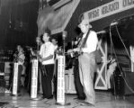 Roy Acuff and the Smoky Mountain Boys on stage at the Ryman