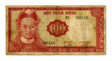 1966-issue Republic of Vietnam 100-Dong note