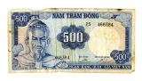 1966-issue Republic of Vietnam 500-Dong note