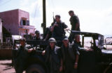 Soldiers on a truck in Qui Nhon