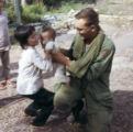SGT Ammons with Vietnamese children from Qui Nhon