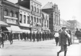 Parade in honor of soldiers leaving for service during World War I