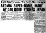 Atomic Super-Bomb, Made at Oak Ridge, Strikes Japan [Page 2 of News-Sentinel]