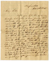 Letter from Anderson Childress to Sarah Childress Polk about a runaway slave