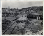 The results of a flood on the Emory River, at Harriman, Tennessee.