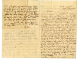 Letter from Oliver Caswell King to Katherine Rebecca Rutledge King, Page 1 and 4