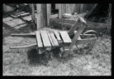 Wheelbarrow with metal wheel
