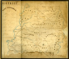 Hand-drawn 1862 map of West Tennessee