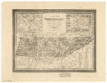 A new map of Tennessee with its roads and distances from place to place along the stage and...