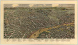Bird's-eye view of Nashville, Tenn. in the 1880s
