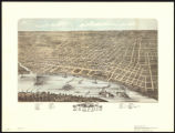 Bird's-eye view of the City of Memphis, Tennessee in the 1870s