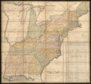 Abraham Bradley's Map of the United States (approximately 1796)