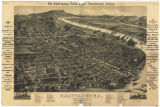 Bird's-eye view of Chattanooga, Tennessee in 1888