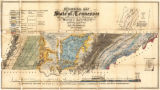 Geological map of state of Tennessee (1855)