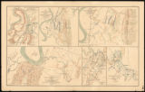 Civil War maps of the 1863 Chattanooga campaign and the Red River expedition in Louisiana