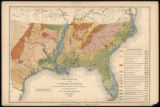 Agricultural map of the cotton states (1882)