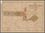 "Map showing the territory originally assigned to the Cherokee ""Nation of"" Indians west..."