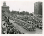 World War II parade in downtown Nashville to State Capitol.