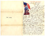 "Letter from Mary Burnett to Jacob Burnett on ""Liberty and Union, Now and Forever""..."