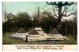 "Shiloh National Military Park, ""Gen. Johnston Monument and Tree Where He Was Wounded"""