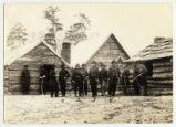 General Hooker at Lookout Valley Headquarters with generals and staff