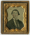 Cased ambrotype of William Marion Fudge