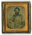 Hand-tinted tintype of 1st Lt. William Houston Harris, Co. I, 7th Tenn. Inf. Regt., CSA